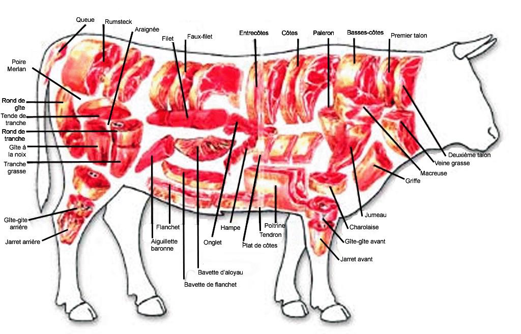 Pièces de bœuf