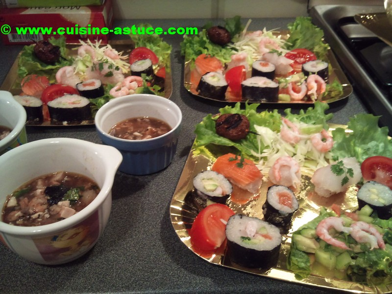 Maki Abocado, Tamago, Kappa et Sushi
