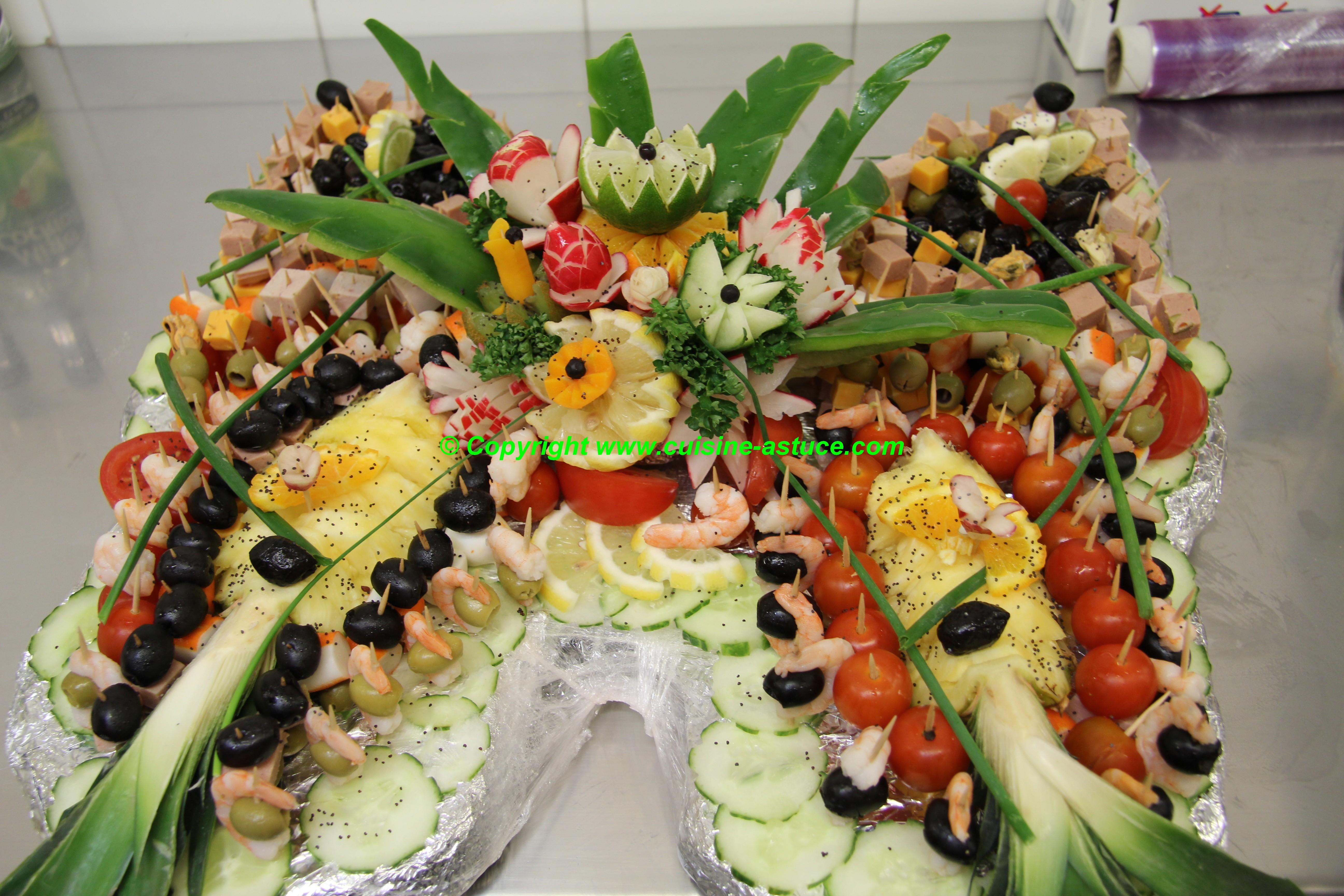 Un buffet préparé