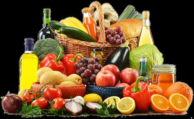 Divers gammes de fruits et légumes